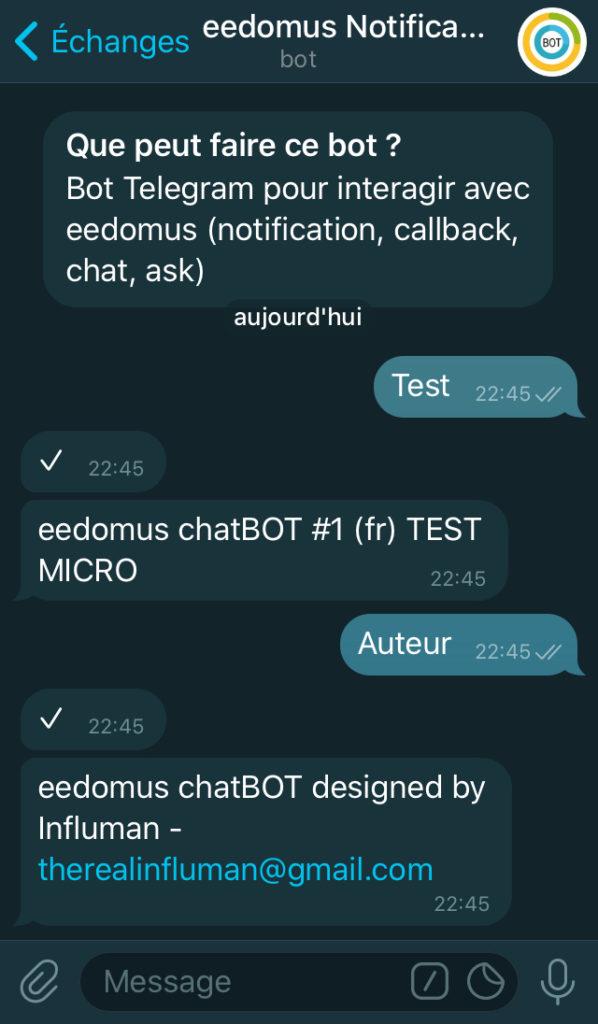 telegram eedomus test